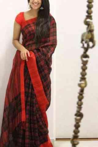 """Dreamy Red Color Soft Silk Saree - SB1081  30"""""""
