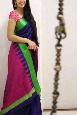 "Latest Multi Color Soft Silk Saree - SB1082  30"""