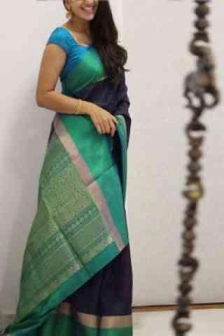"Amazing Multi Color Soft Silk Saree - SB1085  30"""