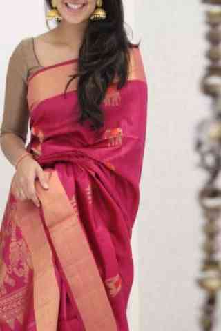 "Latest Pink Color Soft Silk Saree - SB1086  30"""