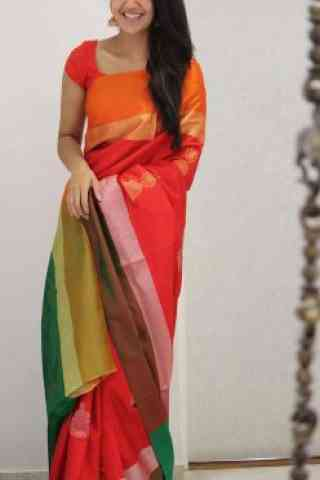"Classic Multi Color Soft Silk Saree - SB1090  30"""