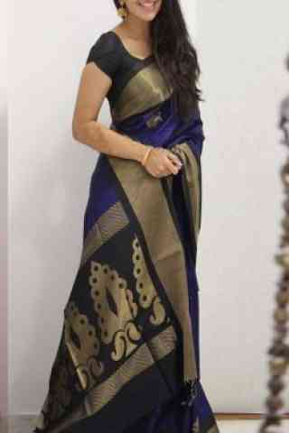 Fashionable Multi Color Soft Silk Designer Wear Saree - SB1102  30""
