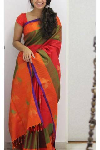 Fashionable Multi Color Soft Silk Designer Sarees - SB1121  30""