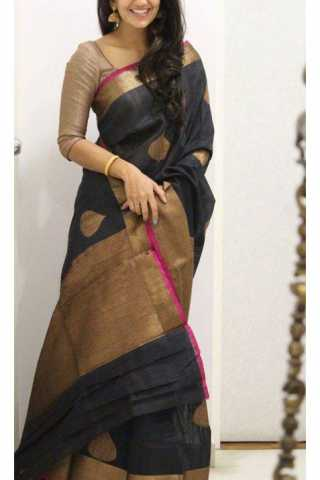 Delightful Black Color Soft Silk Designer Sarees - SB1123  30""