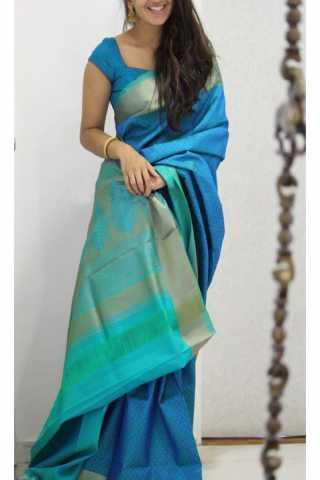 "Admirable  Blue Color Soft Silk Designer Sarees - SB1137  30"""