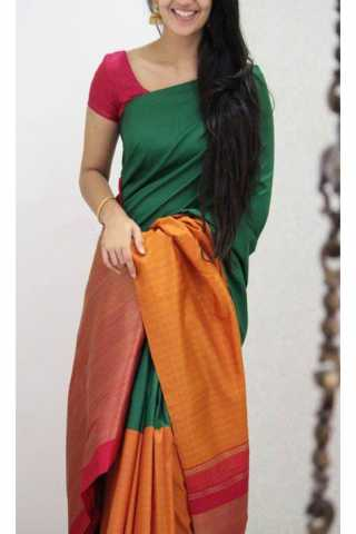 Refreshing Green Color Soft Silk Designer Sarees - SB1141  30""