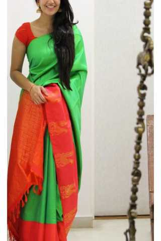 Unique Multi  Color Soft Silk Saree - SB1157  30""