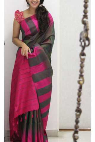 """Unique Multi Color Soft Silk Saree - SB1168  30"""""""