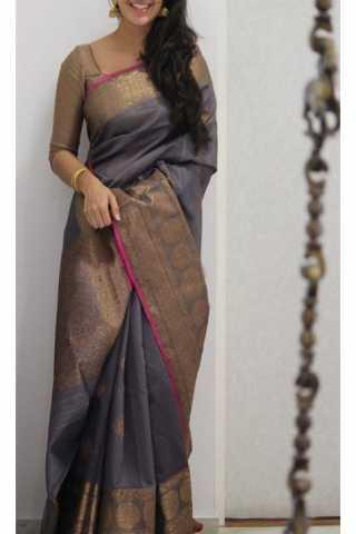 """Unique Multi Color Soft Silk Saree - SB1169  30"""""""