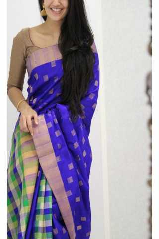 Unique Multi Color Soft Silk Saree - SB1173  30""