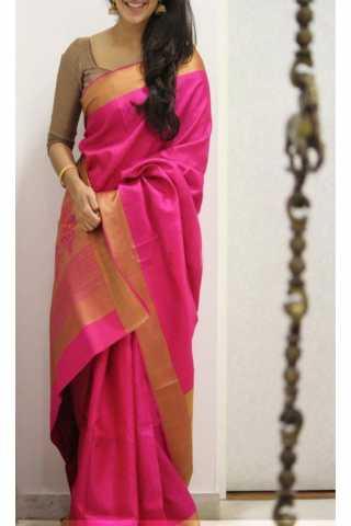 """Royal Pink Color Soft Silk Saree - SB1185  30"""""""
