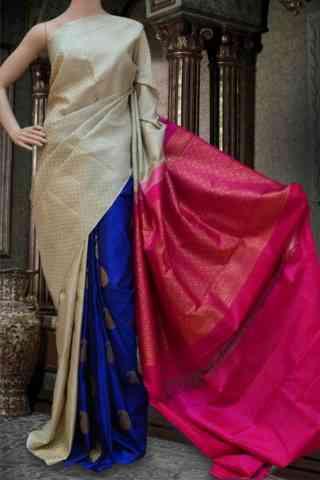 "Beautiful Multi Soft Silk Saree - SB586  30"""