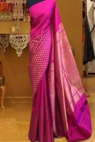 Admirable Pink Color Pattern Soft Silk Saree - SB602  30""