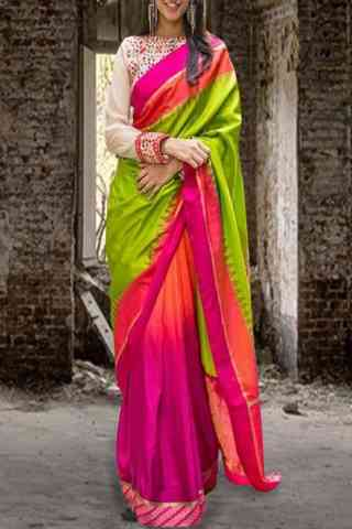 Fashionable Green Color Pattern Soft Silk Saree - SB606  30""