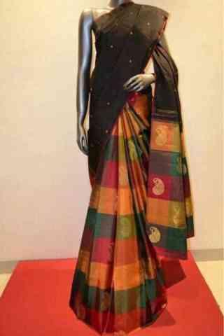 "Sizzling Multi Color Soft Silk Designer Sarees-SB629  30"""