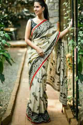 Royal White Color Soft Silk Designer Sarees-SB631  30""