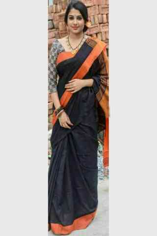 Mind Blowing Black Color Soft Silk Designer Sarees-SB634  30""