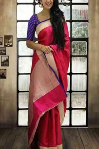 """Glorious Pink Color Soft Silk Designer Sarees-SB647  30"""""""