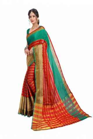 "Dynammic Multi Color Soft Silk Designer Sarees-SB648  30"""