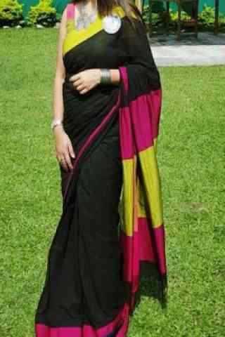 "Glorious Black Color Soft Silk Designer Sarees - SB659  30"""