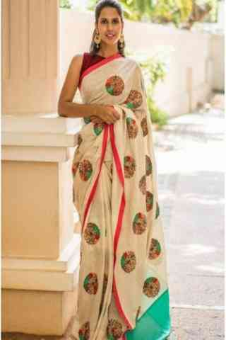 Amazing White Color Soft Silk Designer Sarees - SB660  30""