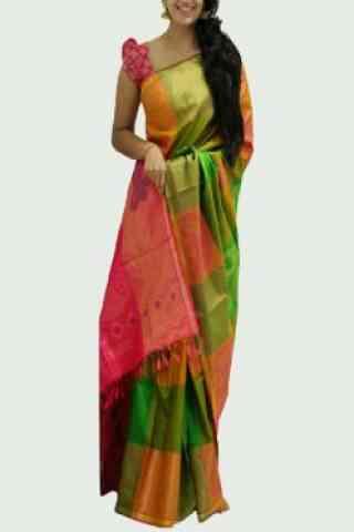 "Latest Multi Color Soft Silk Designer Sarees - SB666  30"""