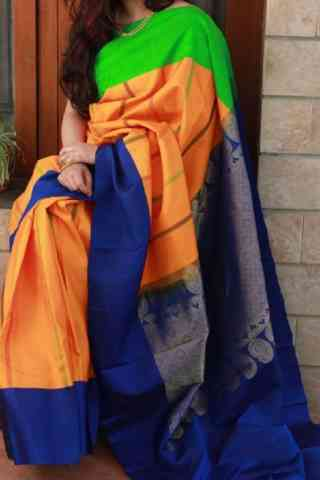 "Dashing  Multi Color Soft Silk Designer Sarees - SB669  30"""