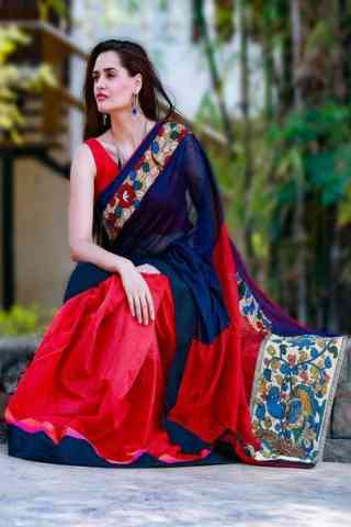 Elegance Red Color Soft Silk Designer Sarees - SB671  30""