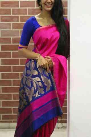 """Glorious Pink Color Soft Silk Designer Sarees - SB672  30"""""""
