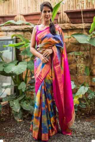 Ultimate  Multi Color Soft Silk Designer Sarees - SB673  30""