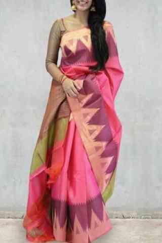 "Modern Pink Color Soft Silk Designer Sarees - SB681  30"""