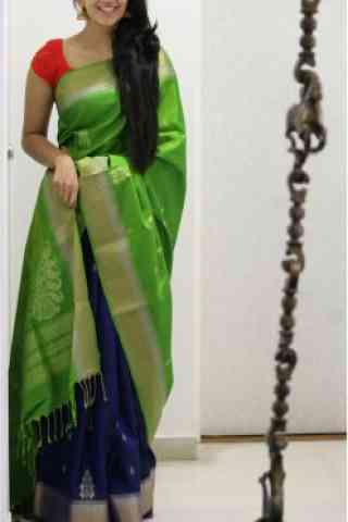 Outstanding Green Color Soft Silk Designer Sarees - SB685  30""