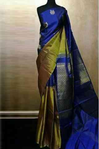 "Latest  Blue Soft Silk Designer Sarees-SB693  30"""