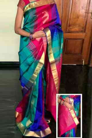 Elegance Multi Color Soft Silk Designer Sarees - SB717  30""