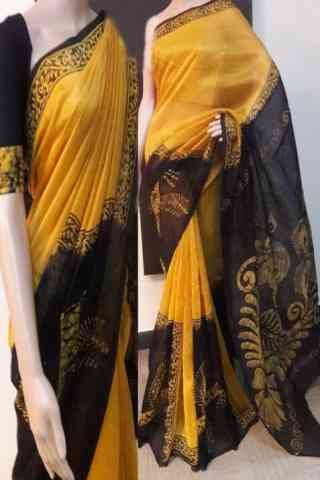 "Fabulous Multi Color Soft Silk Designer Sarees - SB718  30"""