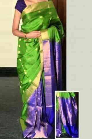 """elegant Multi Color Soft Silk Designer Sarees - SB720  30"""""""