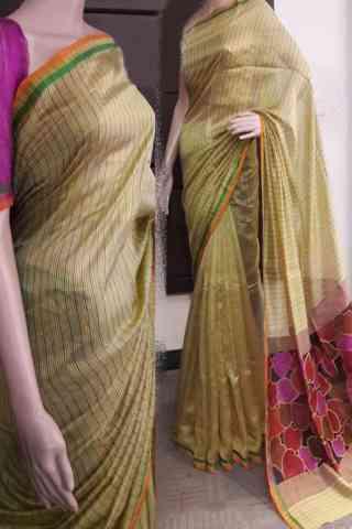 "Exclusive Multi Color Soft Silk Saree - SB726  30"""