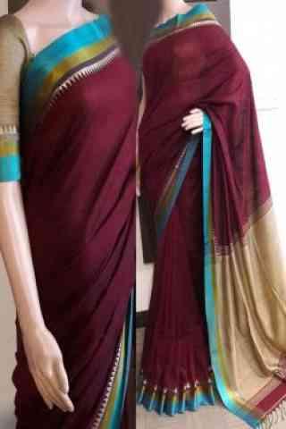 "Stylish Multi Color Soft Silk Saree - SB727  30"""