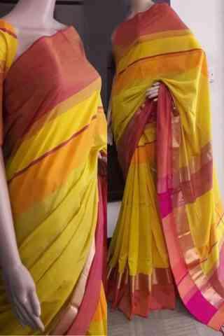 """Attractive Multi Color Soft Silk Saree - SB734  30"""""""