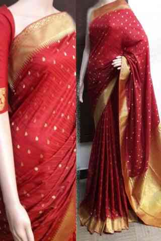 Dynammic Red Color Soft Silk Saree - SB744  30""