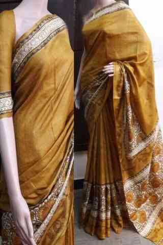 Mind Blowing Yellow Color Soft Silk Saree - SB750  30""
