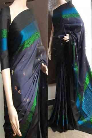 """glitzy  Multi Color Soft Silk Saree - SB751  30"""""""