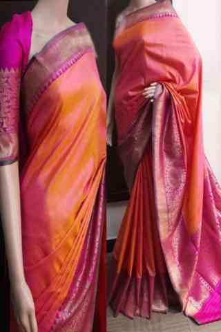 "Delightful Multi Color Soft Silk Saree - SB753  30"""