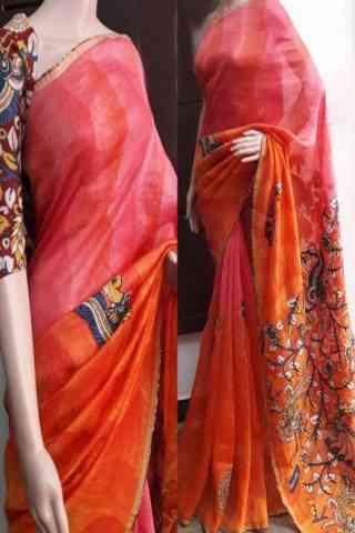 "Blooming Multi Color Soft Silk Saree - SB754  30"""