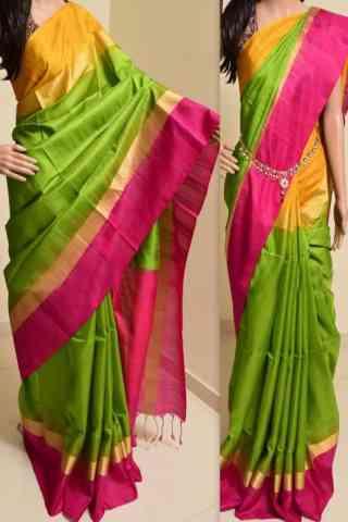 "Forever Multi Color Soft Silk Saree - SB758  30"""