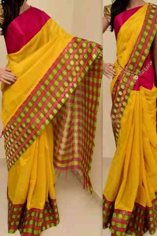 Stimulating  Multi Color Soft Silk Saree - SB760  30""