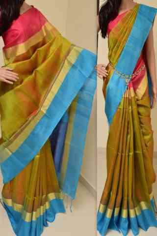 """Exquisite Multi Color Soft Silk Saree - SB761  30"""""""
