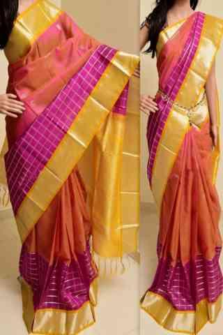 "Forever Multi Color Soft Silk Saree - SB763  30"""