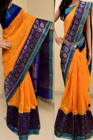 Blooming Multi Color Soft Silk Saree - SB766  30""