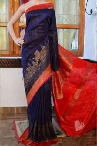 """Charming Blue Color Soft Silk Designer Sarees - SB892  30"""""""